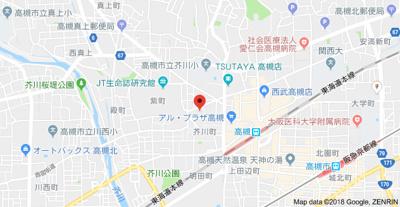 【地図】メゾン芥川 (株)Roots