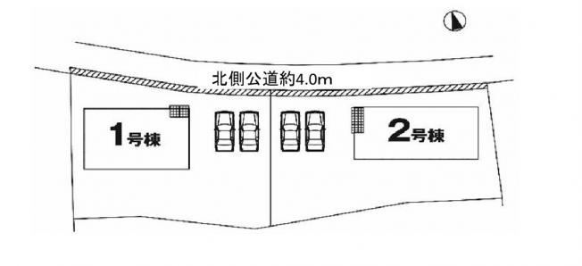 【区画図】土浦市霞ヶ岡町1期 新築戸建 1号棟