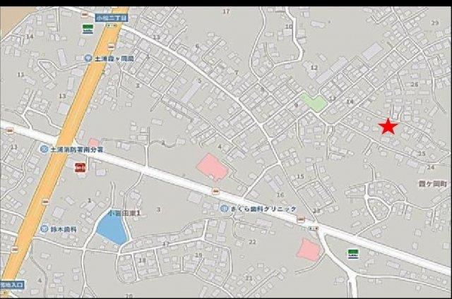 【地図】土浦市霞ヶ岡町1期 新築戸建 1号棟