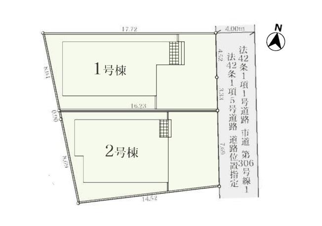 【区画図】東村山市栄町3丁目 新築戸建て 全2棟 1号棟