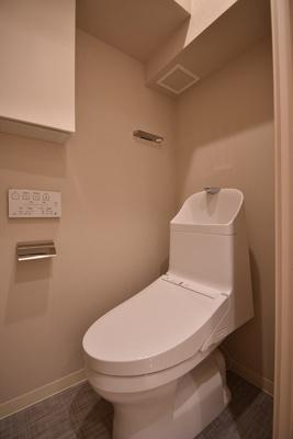 【トイレ】サンパークマンション鶯谷 4階 角 部屋 リ ノベーション済