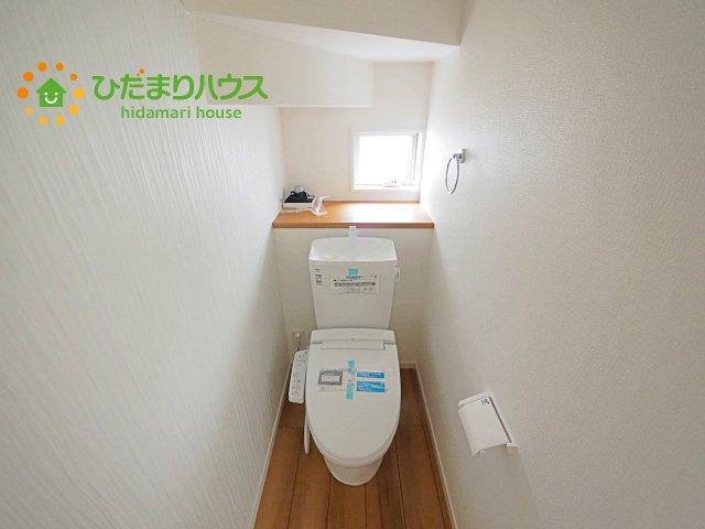 環境にもやさしい、少ない水量でしっかり流す節水型トイレを設置!