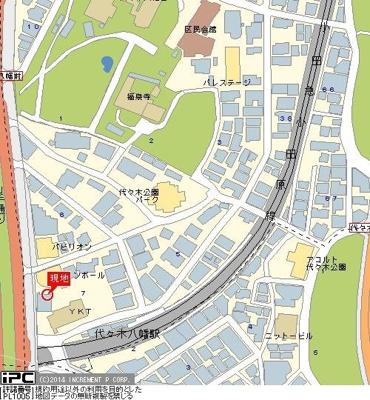 【地図】ノバガーデン代々木