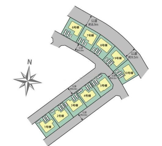 【区画図】ブルーミングガーデンつくば市並木4丁目