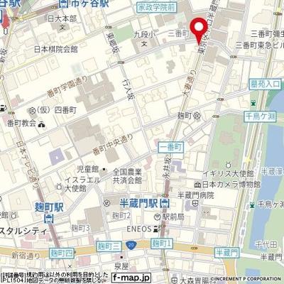【地図】朝日三番町プラザ