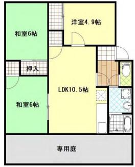 北九州市小倉南区下貫4丁目2棟一括売アパート