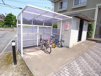 【駐輪場】北九州市小倉南区下貫4丁目2棟一括売アパート