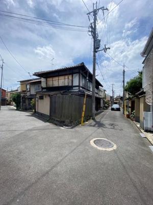 【前面道路含む現地写真】左京区下鴨宮崎町 建築条件無し 売土地