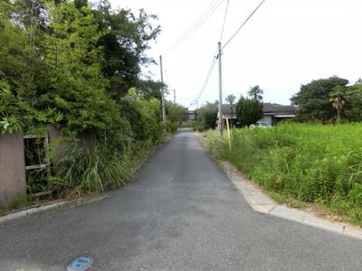 【前面道路含む現地写真】米子市大崎 資材置き場