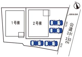 駐車場並列2台可能