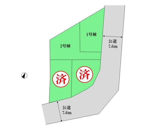 【区画図】東村山市美住町2丁目 新築戸建全4棟