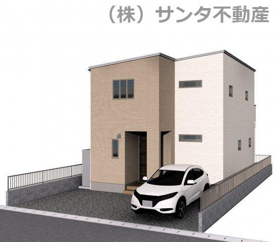 Aモデル完成時のイメージパースです。2台駐車可能です。