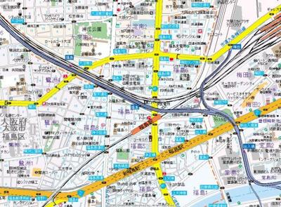 【地図】エスリード福島グレイス