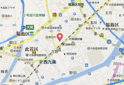【地図】ララプレイス大阪福島ミラ