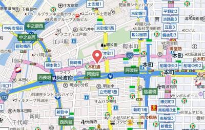 【地図】レジデア西本町