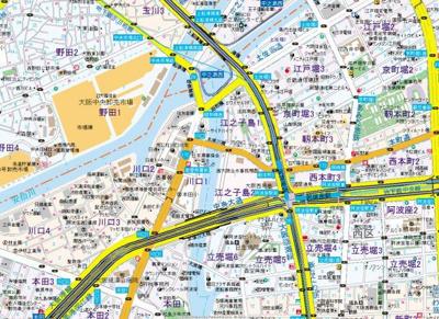 【地図】ファーストフィオーレ阿波座アクア