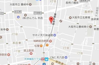 【地図】エステムコート梅田茶屋町デュアルスペース