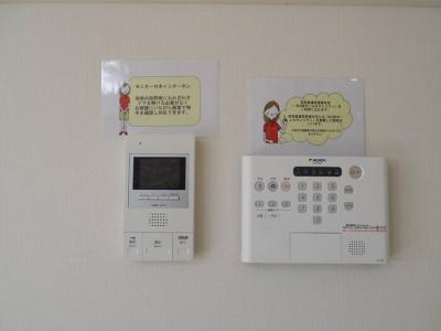 ALSOKホームセキュリティ標準搭載、モニター付インターホン(オートロック仕様)