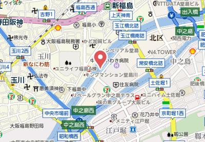 【地図】オリエンタル靭本町