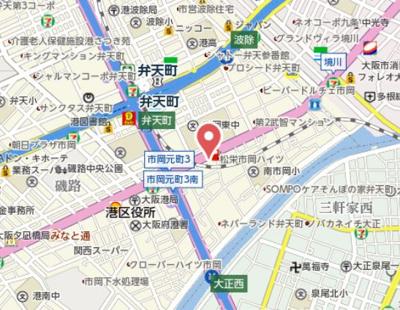 【地図】アドバンス大阪ベイストリート