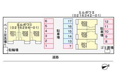 【区画図】ミルポワⅡ