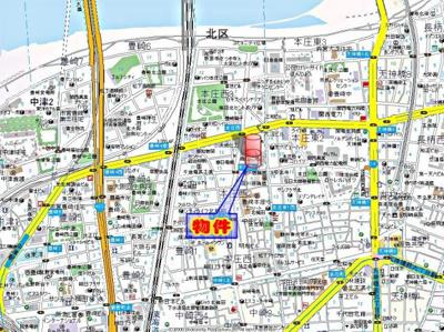 【地図】ドゥーエ本庄