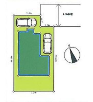 【区画図】所沢市小手指3丁目 全1棟
