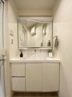 エンゼルハイム下丸子第二の洗面台です。