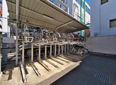 エンゼルハイム下丸子第二の駐輪場です。