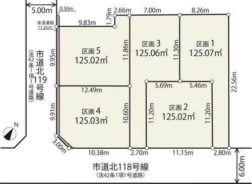 【区画図】国分寺市戸倉3丁目 新築戸建 全5棟 4号棟