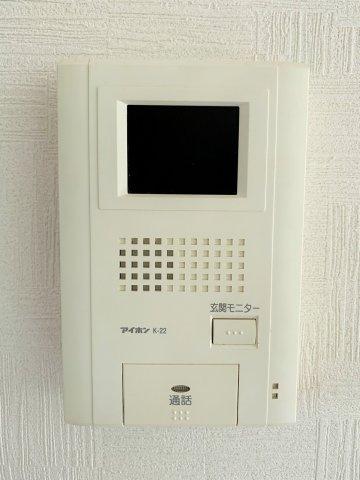 TVモニター付きインターホン付きなので防犯上、安心です。