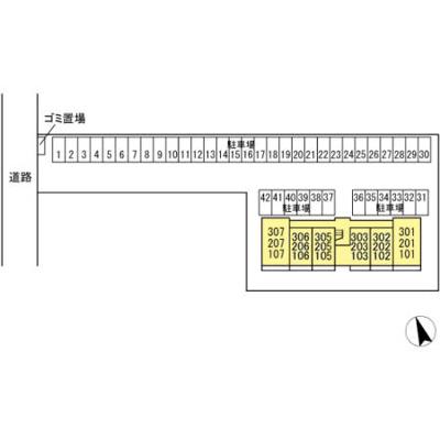 【区画図】コンフォートⅢ A棟