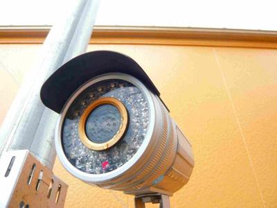 防犯カメラ付き