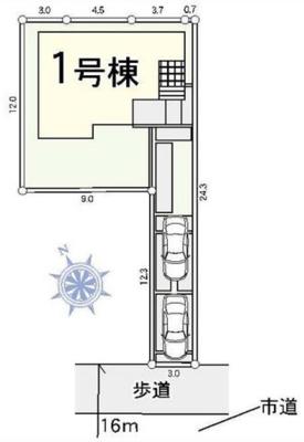 【区画図】越谷市花田新築一戸建て4LDK