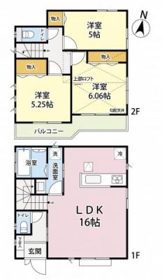 M号地 3LDK+ロフト 土地面積 113.77㎡ 建物面積 78.04㎡