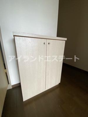 【収納】シャンテ三宿 ペット相談可 バストイレ別 室内洗濯機置場