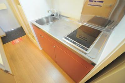 2口コンロ ワイドタイプのキッチンです