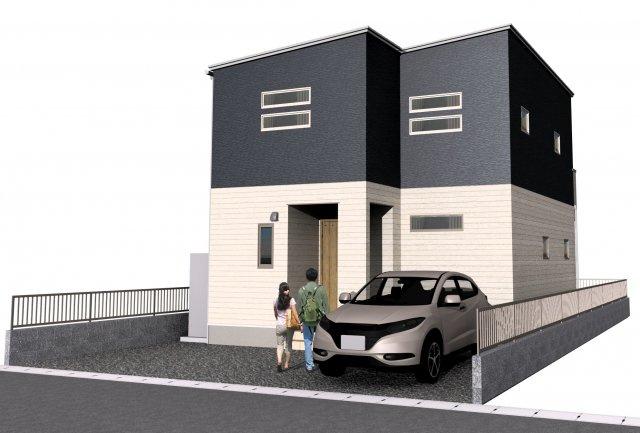 Bモデル完成時のイメージパースです。2台駐車可能です。