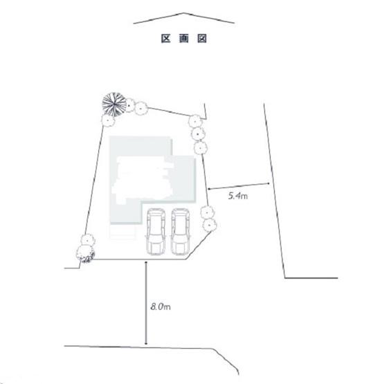 【土地図】箕面3丁目建築条件無売地