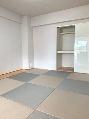琉球風畳がおしゃれ。