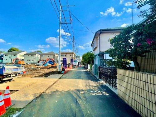 【前面道路含む現地写真】小金井市前原町4丁目 売地 全13区画 F区画