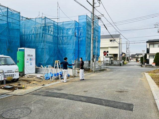 【前面道路含む現地写真】野田市岩名4期 全3棟
