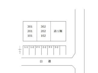 【区画図】高浜市碧海町5丁目 店舗アパート