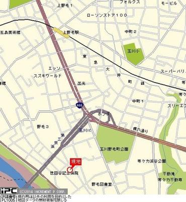 【地図】モビーレ等々力