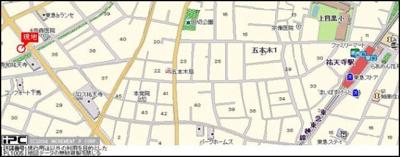 【地図】フェルテロアール祐天寺