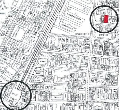【地図】堺市駅8分!満室稼働中の一棟アパート