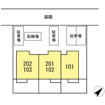 【区画図】D-room砂川町