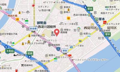 【地図】エスリード大阪シティグランツ
