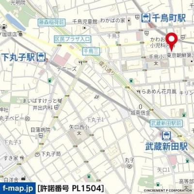 【地図】ヴェルステージ千鳥町