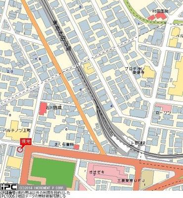 【地図】エクセリア世田谷上町